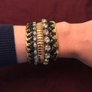 Henri Bendel jeweled statement bracelet with bag